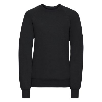 Kids raglan sleeve sweatshirt - Black - Russell