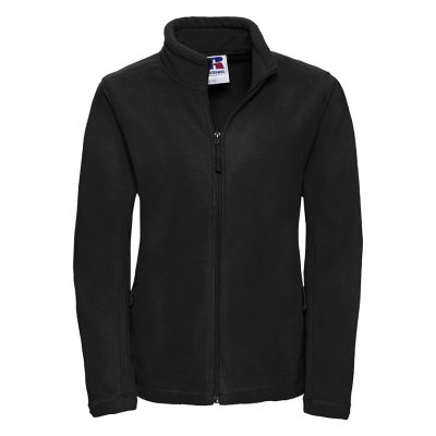 Women's full-zip outdoor fleece - Black - Russell