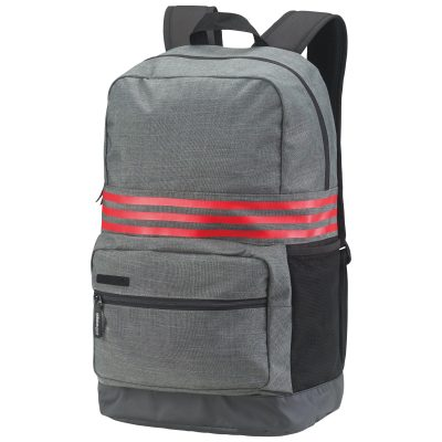 3-Stripes medium backpack - Dark Grey Heather/Scarlet - adidas