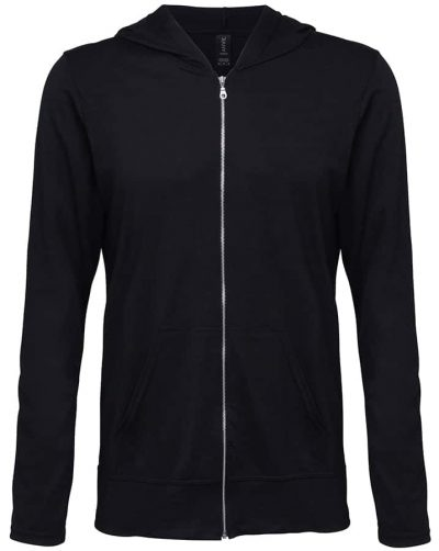 Anvil triblend full-zip hooded jacket - Black - Anvil
