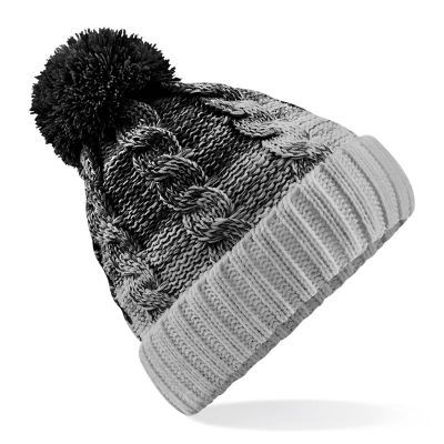 Ombr beanie - Black/Light Grey - Beechfield