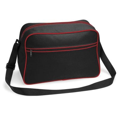 Retro shoulder bag - Black/Classic Red - BagBase