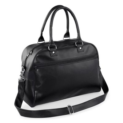 Original retro bowling bag - Black/Black - BagBase