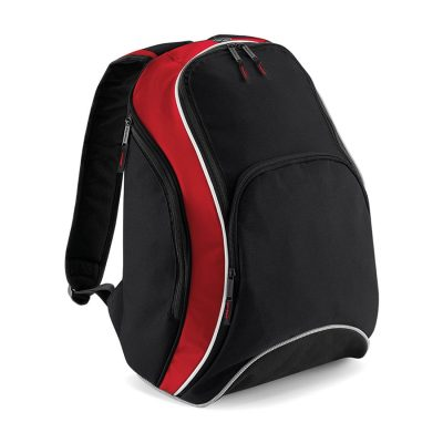 Teamwear backpack - Black/Classic Red/White - BagBase