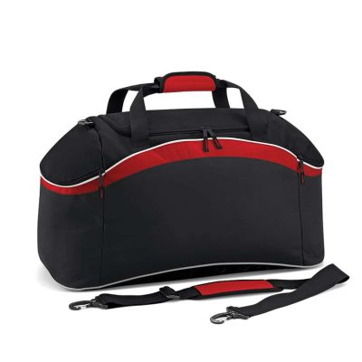 Teamwear holdall - Black/Classic Red/White - BagBase