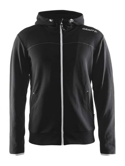 Leisure full zip hood - Black - Craft