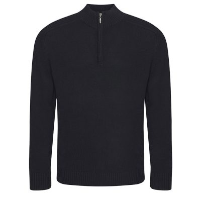 Wakhan  zip knit sweater - Black - AWDis Ecologie
