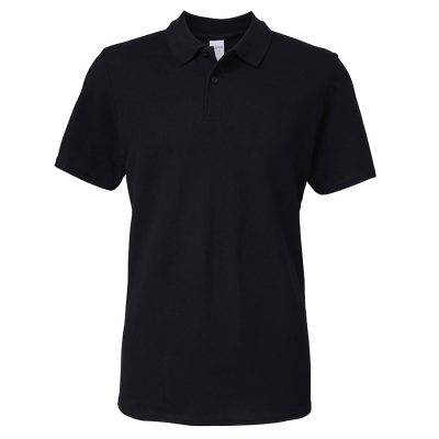 Softstyle adult double piqu polo - Black - Gildan