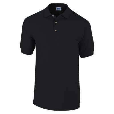 Ultra Cotton ringspun adult piqu polo - Black - Gildan