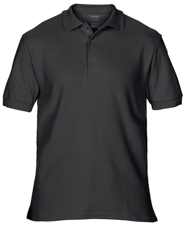 Premium cotton double piqu sport shirt - Black - Gildan