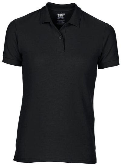 Women's DryBlend double piqu sport shirt - Black - Gildan