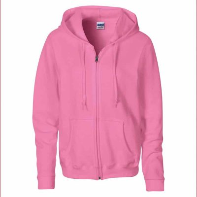 Women's Heavy Blendô full zip hoodie - Azalea - Gildan