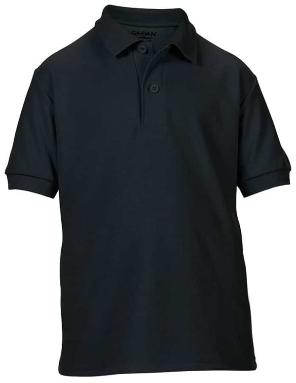 DryBlend youth double piqu sports shirt - Black - Gildan