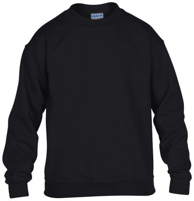 Heavy Blend youth crew neck sweatshirt - Black - Gildan