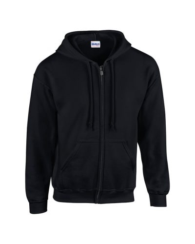 Heavy Blend youth full-zip hooded sweatshirt - Black - Gildan