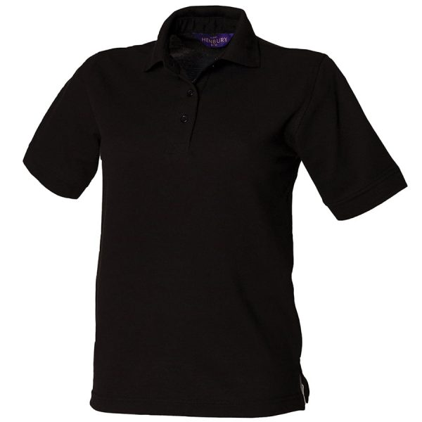 Women's 65/35 polo - Black - Henbury