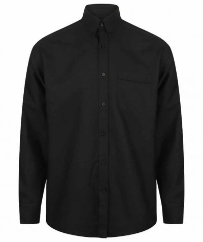 Long sleeved classic Oxford shirt - Black - Henbury