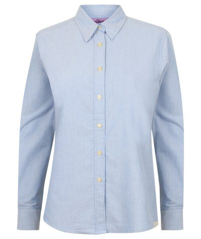 Women's classic long sleeved Oxford shirt - Blue - Henbury