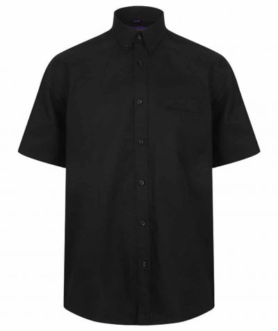 Short sleeve classic Oxford shirt - Black - Henbury