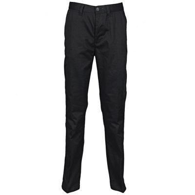 65/35 flat fronted chino trousers - Black - Henbury