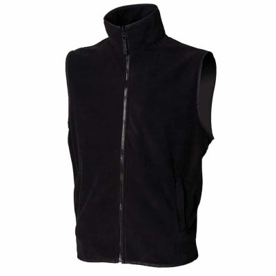 Sleeveless microfleece jacket - Black - Henbury