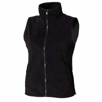 Women's sleeveless microfleece jacket - Black - Henbury