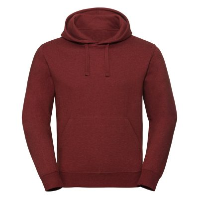 Authentic melange hooded sweatshirt - Brick Red Melange - Russell