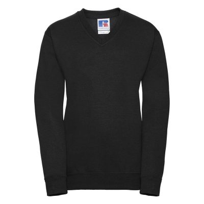 Kids v-neck sweatshirt - Black - Russell