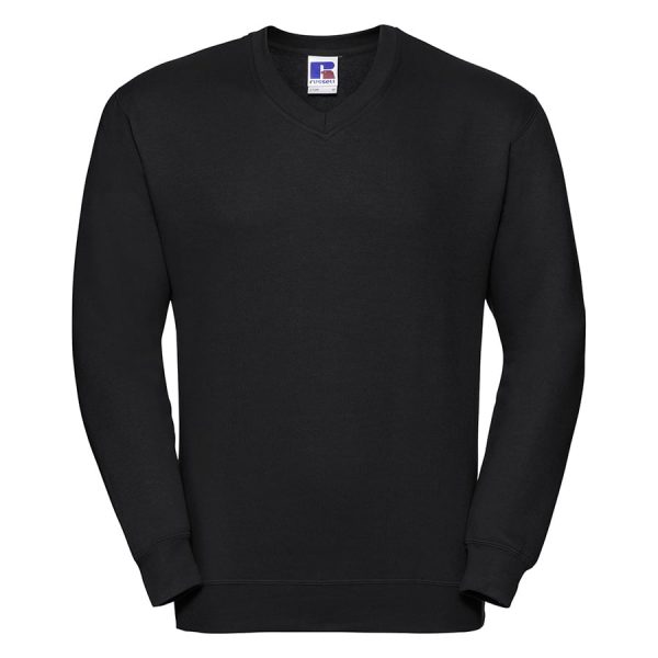 V-neck sweatshirt - Black - Russell