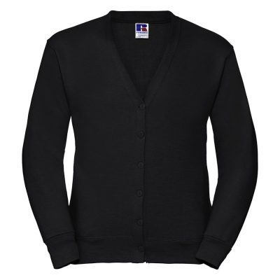 Fleece cardigan - Black - Russell