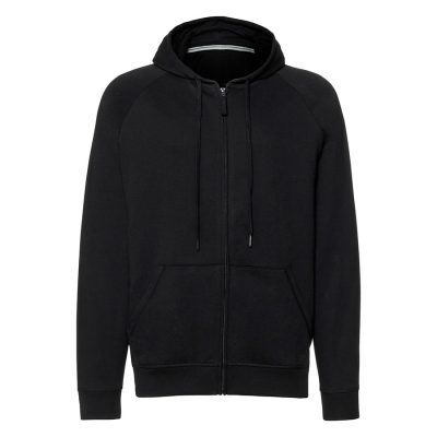 HD zipped hood sweatshirt - Black - Russell