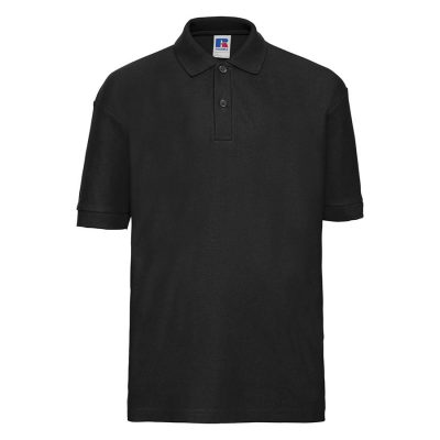 Kids polo shirt - Black - Russell
