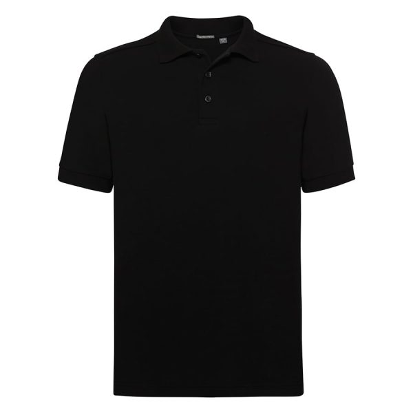 Tailored stretch polo - Black - Russell
