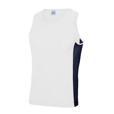 Cool contrast vest - Arctic White/French Navy - AWDis Cool