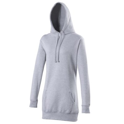 Girlie longline hoodie - Heather Grey - AWDis Hoods