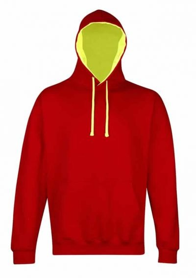 Superbright hoodie - Fire Red/Electric Yellow - AWDis Hoods