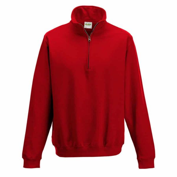 Sophomore  zip sweatshirt - Fire Red - AWDis Hoods