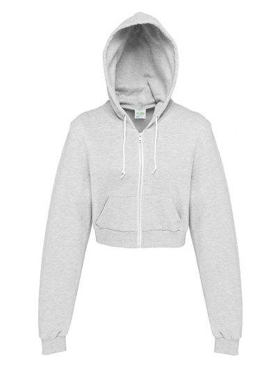 Girlie cropped zoodie - Heather Grey - AWDis Hoods