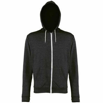 Heather zoodie - Black Heather - AWDis Hoods