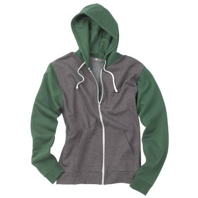 Retro zoodie - Charcoal Grey/Bottle Green - AWDis Hoods