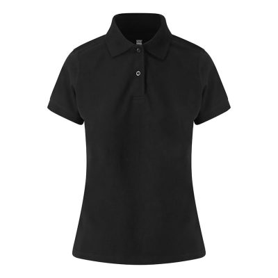 Girlie stretch polo - Black - AWDis Just Polos