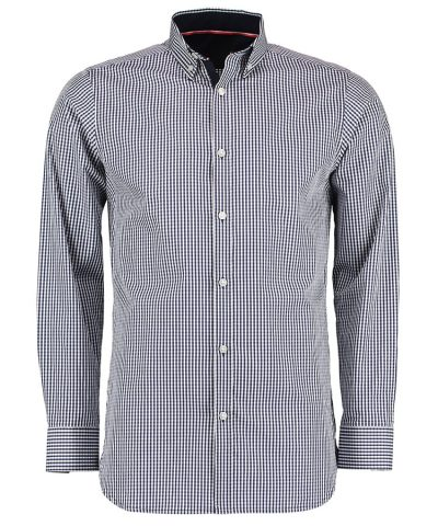Clayton & Ford gingham shirt long sleeve - Navy/White - Clayton & Ford