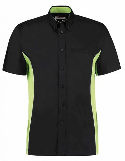 Gamegear sportsman shirt short sleeve - Black/Lime/White - Gamegear