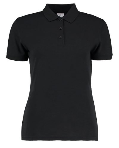 Women's Klassic slim fit polo Superwash 60C - Black - Kustom Kit