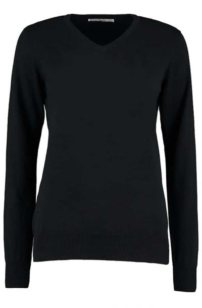 Women's Arundel sweater long sleeve - Black - Kustom Kit