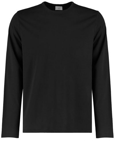 Long sleeve Superwash 60C tee (fashion fit) - Black - Kustom Kit
