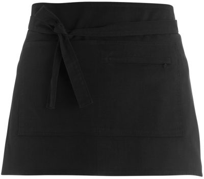 Bar apron short Superwash 60C unisex - Black - Bargear
