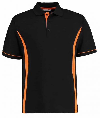Scottsdale polo - Black/Orange - Kustom Kit
