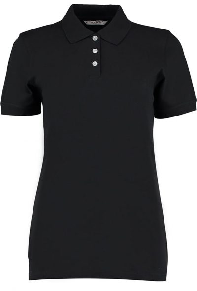Women's Kate Comfortec polo - Black - Kustom Kit