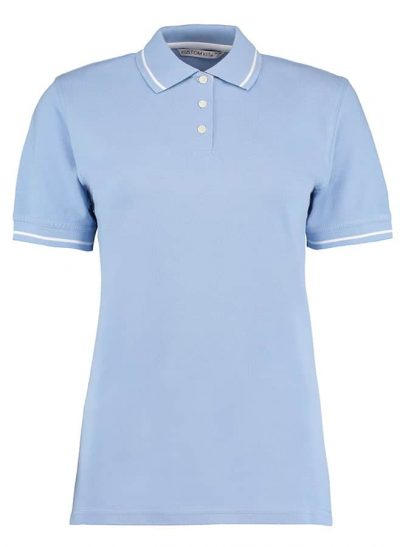 Women's St Mellion polo - Light Blue/White - Kustom Kit